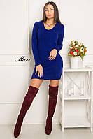 Теплое платье футляр с длинным рукавом тв-12017-5, фото 1