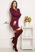 Теплое платье футляр с длинным рукавом тв-12017-6