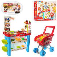 Игровой наборМагазин прилавок,тележка, продукты, сканер (звук, свет)668-22