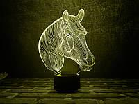 "Сменная пластина для 3D ламп ""Лошадка 2"" 3DTOYSLAMP, фото 1"