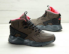 Кроссовки мужские Найк Nike Air Huarache High Top Brown. ТОП Реплика ААА класса., фото 3