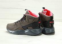 Кроссовки зимниемужские Найк Nike Air Huarache High Top Brown. ТОП Реплика ААА класса., фото 3