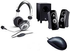 Підставки для ноутбуків, навушники, мишки,клавіатури, геймпади, акустика.