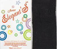 Колготки детские махровые х/б Элегант, Cotton 450 Den, 22 размер, 140-146 см, чёрные, 4306