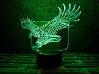 "Сменная пластина для 3D ламп ""Орел в полете"" 3DTOYSLAMP, фото 1"