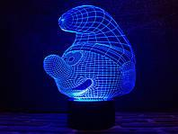 """Сменная пластина для 3D светильников """"Смурфик"""" 3DTOYSLAMP, фото 1"""