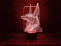 """Сменная пластина для 3D светильников """"Анубис"""" 3DTOYSLAMP, фото 1"""