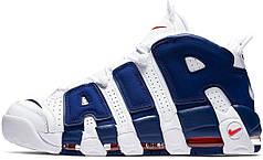 "Кроссовки мужские Nike Air More Uptempo 96 ""WHITE & DEEP ROYAL BLUE"""