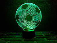 """Сменная пластина для 3D светильников  """"Футбольный мяч"""" 3DTOYSLAMP"""