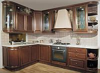 Кухни с фасадами из шпона черешни, кухня на заказ под черешню в Киеве, фото 1