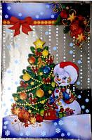 """Пакет полипропиленовый с рисунком """"Снеговик с елкой"""", 20×30 см"""