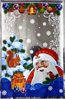 """Пакет для Новорічних подарунків з малюнком """"Дід Мороз і білочка"""", 20×30 см"""