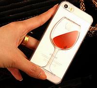 Уникальный чехол бампер для iphone 7 Plus бокал вина