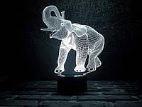 "Сменная пластина для 3D ночника ""Слон"" 3DTOYSLAMP, фото 1"
