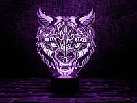 """Сменная пластина для 3D ночника """"Волк - 2"""" 3DTOYSLAMP, фото 1"""