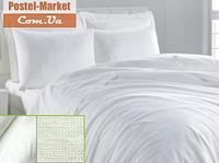 Белое постельное белье Бязь Гост Utek (Двуспальный евро )