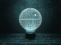 "Сменная пластина для 3D ночника ""Звезда смерти"" 3DTOYSLAMP, фото 1"