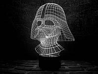 Сменная пластина для 3D ночника 3DTOYSLAMP Дарт Вейдер, фото 1