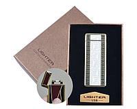 Электроимпульсная зажигалка USB 4889 в подарочной коробке