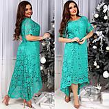 Женское  вечернее удлиненное платье,размеры:50,52,54,56,58., фото 2