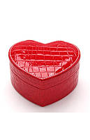 Шкатулка для украшений сердце красная ТБ-133