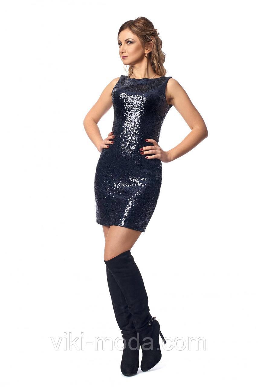 Вечернее платье с вырезом на спине - Оптово - розничный магазин одежды viki- moda в 37e7f2f8c2c