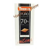 Torras Черный шоколад без глютена и сахара Puro Fondant 70% Cacao Intens 200 гр.Испания