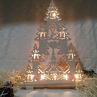 """Новогоднее, рождественское украшение с подсветкой """"Елка"""", фото 1"""