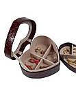 Шкатулка для украшений сердце бордо ТБ-135, фото 2
