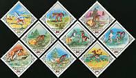 Монголия 1983 сказки Монголии - животные - MNH XF
