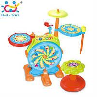 Детская барабанная установка с звуковыми и световыми эффектами 666