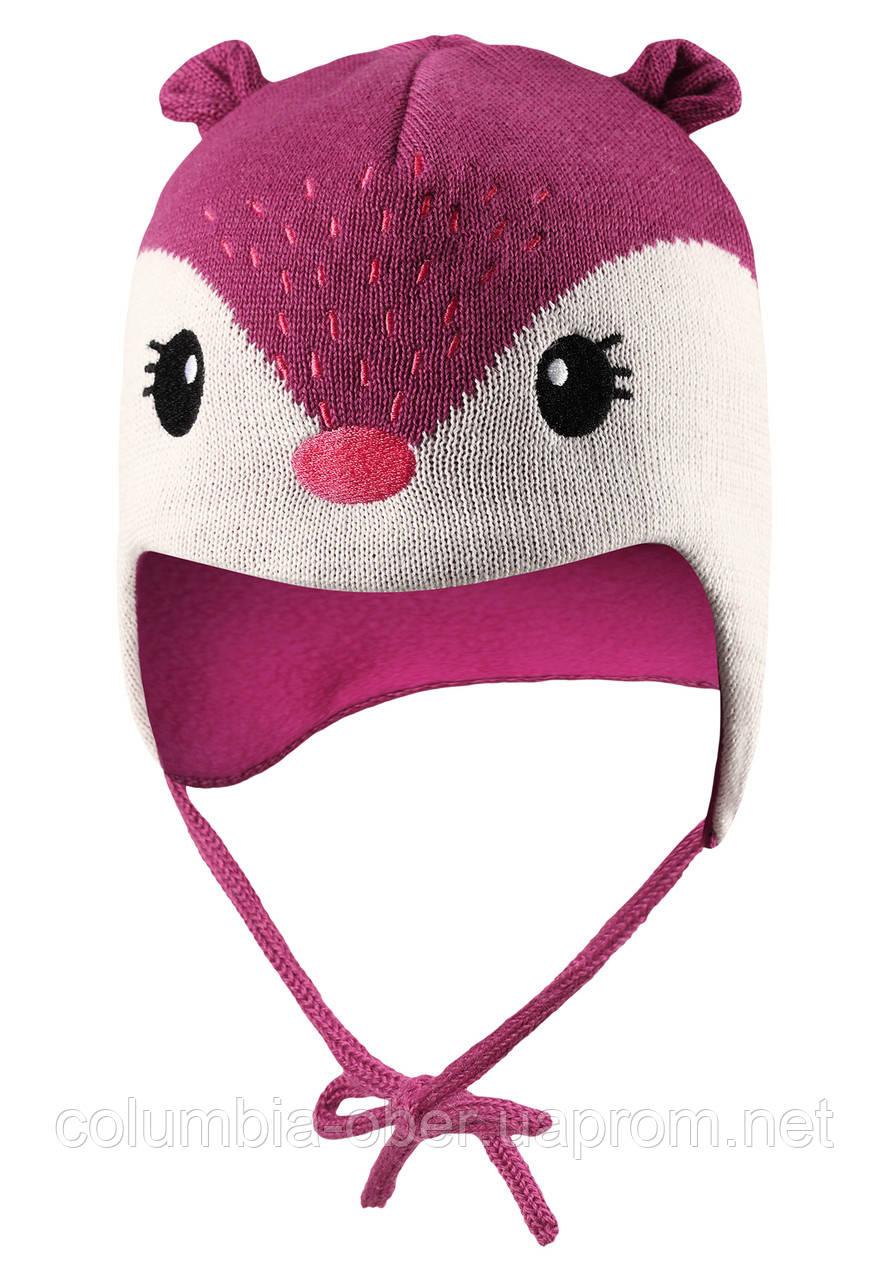 Зимняя шапка для девочки Lassie by Reima 718726-4800. Размеры XXS -  S.