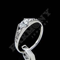 Кольцо с рубином серебро 925 проба