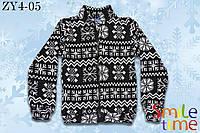 Кофта Снежинка, вязаный трикотаж р.104,110,116,134,152 SmileTime  черно-белая