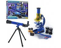 Микроскоп CQ 031 раз.19,5-11-7 см, телескоп 43,5-13-5,5 см, стек.