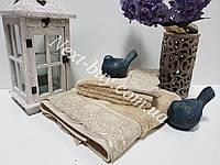 Бамбуковое полотенце с гипюром Maison D'or Julia Bambu 50х100см бежевый