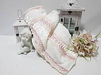 Бамбуковое полотенце с кружевом Maison D'or Vanessa 85х150см кремовое