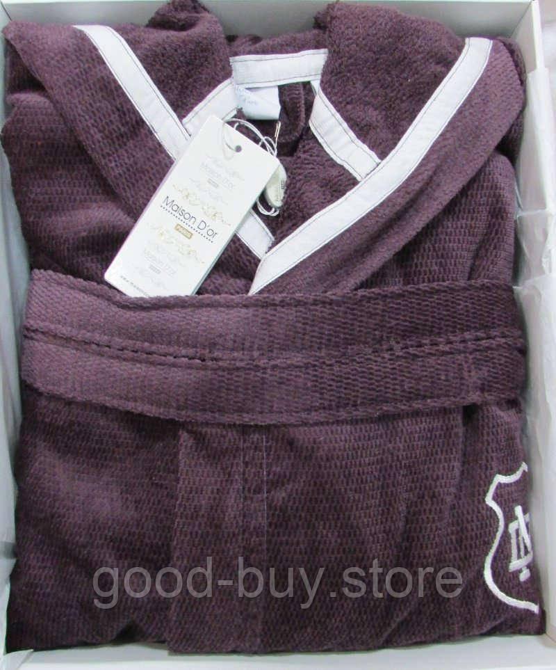 21039c16b6cc Мужской махровый халат Maison D`or Paris Leonor с капюшоном фиолетовый,  цена 2 045 грн., купить в Хмельницком — Prom.ua (ID#629860579)