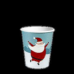 """Стакан бумажный """"Р"""" 175 мл. Merry Christmas 50шт (30/1500) (КР68)"""
