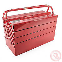 Ящик для инструментов металлический 450 мм, 7 секций INTERTOOL HT-5047