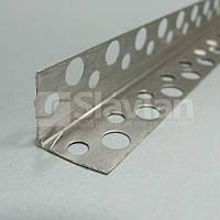 Уголок алюминиевый перфорированый без сетки, 3м