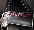 Бортик - коса в детскую кроватку 120 см (цвет на выбор), фото 3