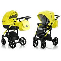 Детская универсальная коляска 2 в 1  Mioobaby Zoom Black Edition, Lime