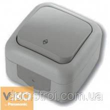 Выключатель проходной влагозащищенный 1-клав. VIKO Palmiye серый