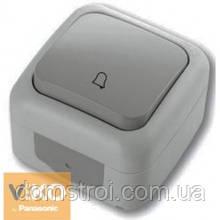 Кнопка звонка влагозащищенная VIKO Palmiye серый