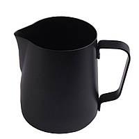 Джагг для молока из нержавеющей стали черный 350мл, A9538