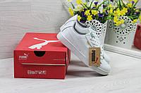Puma Suede женские кроссовки белые  (Реплика ААА+), фото 1