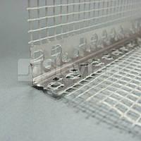 Уголок алюминиевый перфорированый с сеткой, 7х7см, 3м. ЭКО ПЛЮС
