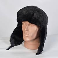 Теплая мужская шапка-ушанка с искусственным мехом (код 29-771)