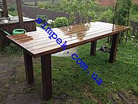 Стол деревянный для дачи, сада, беседки 800 х 2000 мм